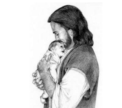 Jesus Holding Baby